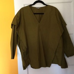 COSstores blouse in olive